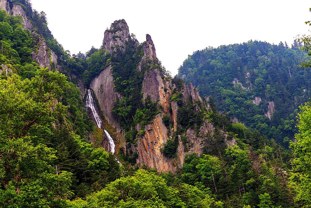 Japan, Hokkaido, Daisetsuzan National Park, Sounkyo, Ginga falls