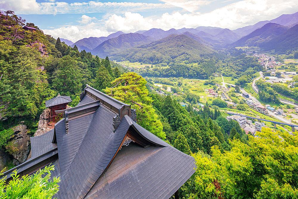 Japan, Honshu, Yamagata prefecture, Risshaku-ji Yamadera temple