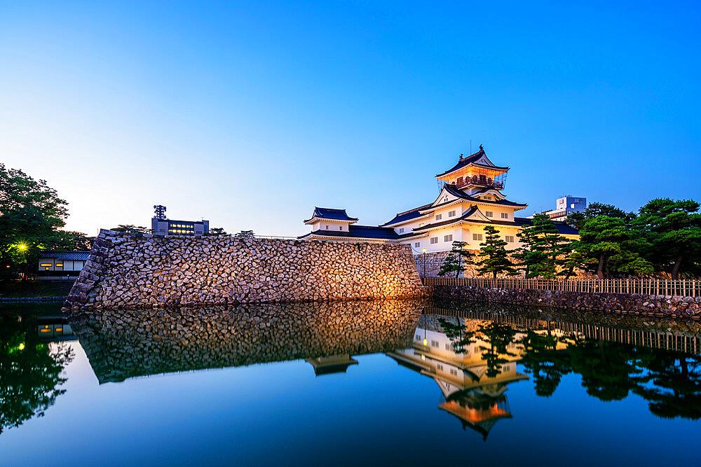 Toyama Castle (Azumi Castle), built in 1543, Toyama, Toyama prefecture, Honshu, Japan, Asia
