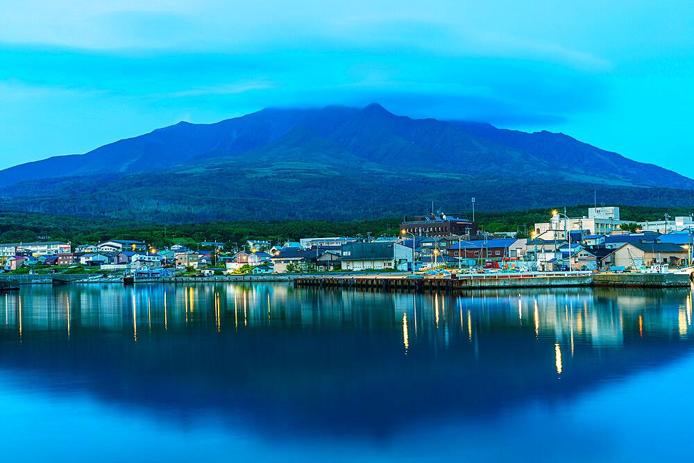 Japan, Hokkaido, Rishiri island, Rishiri town harbour