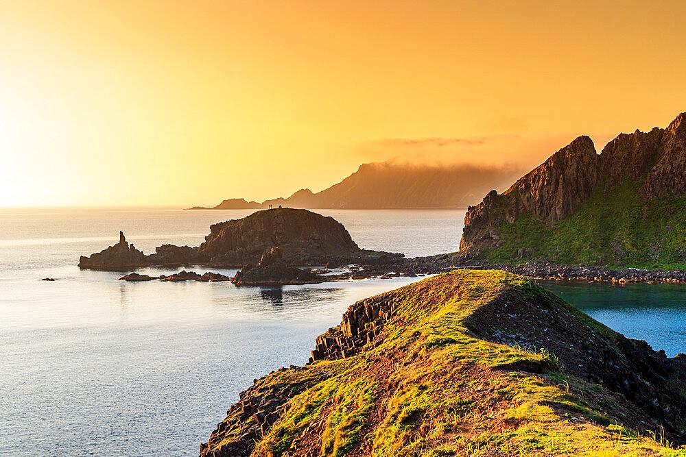 Japan, Hokkaido, Rebun island, coastal scenery