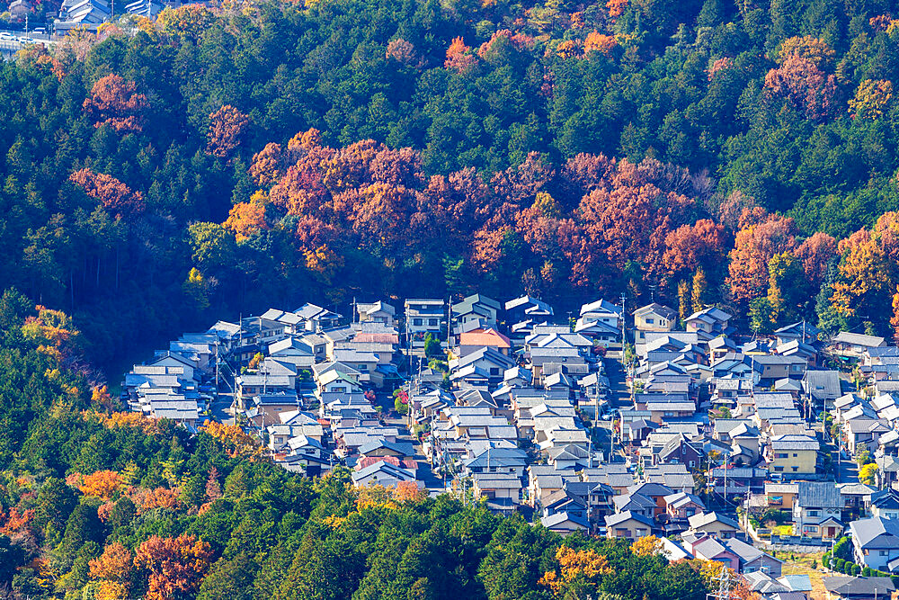 Japan, Kansai, Kyoto, city view in autumn