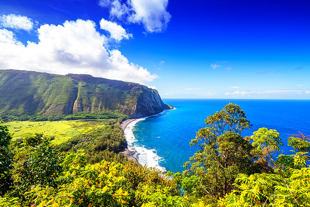 USA, Hawaii, Big Island, Waipio valley north shore