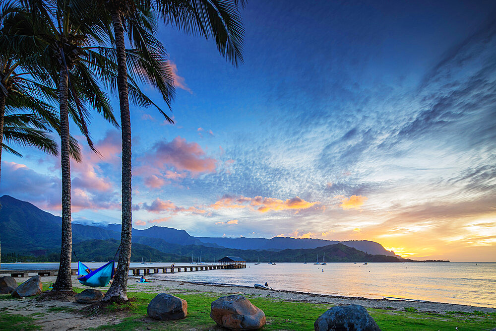 Hanalei Bay, Kauai Island, Hawaii, United States of America, North America