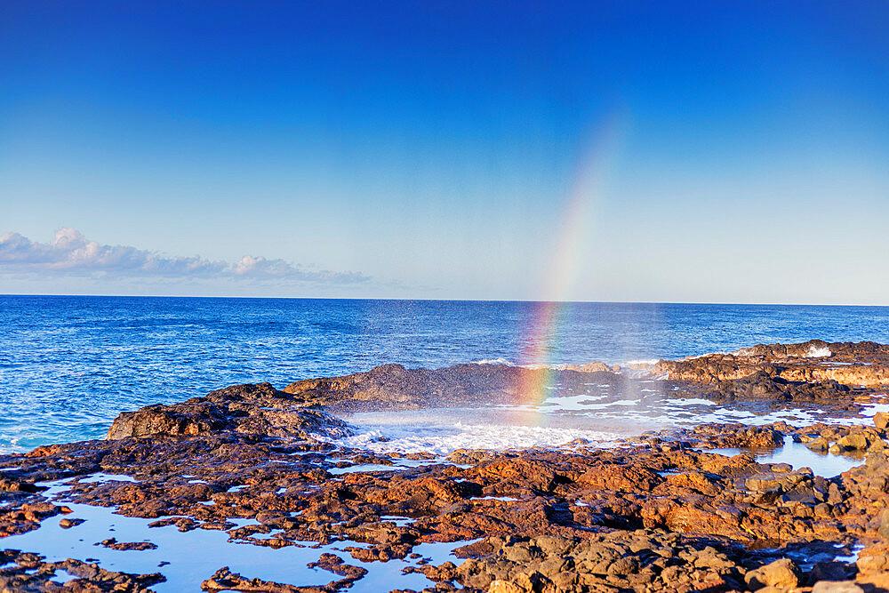 Poipu, blow hole, Kauai Island, Hawaii, United States of America, North America