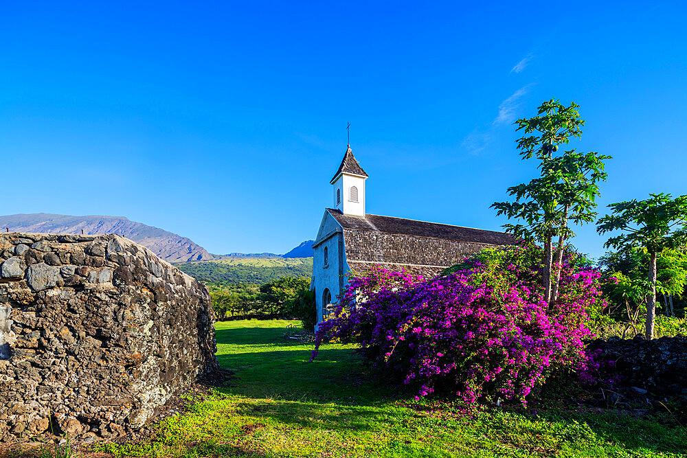 United States of America, Hawaii, Maui island, church on the road to Hana