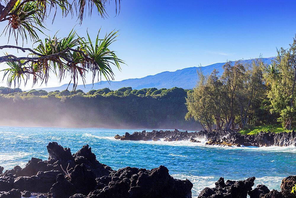 United States of America, Hawaii, Maui island, coastal scenery on the road to Hana