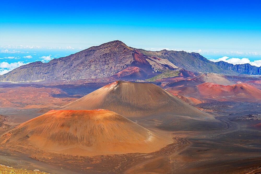 United States of America, Hawaii, Maui island, Haleakala National Park, volcanic landscape