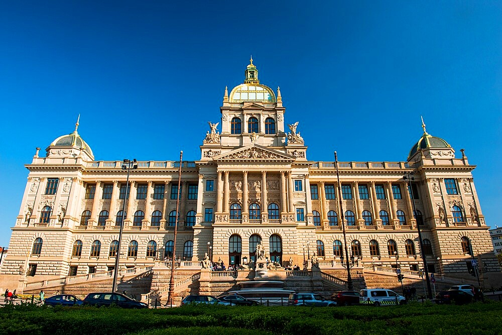 National Museum, Wenceslas Square, New Town, Prague, Czechia, Europe - 737-726