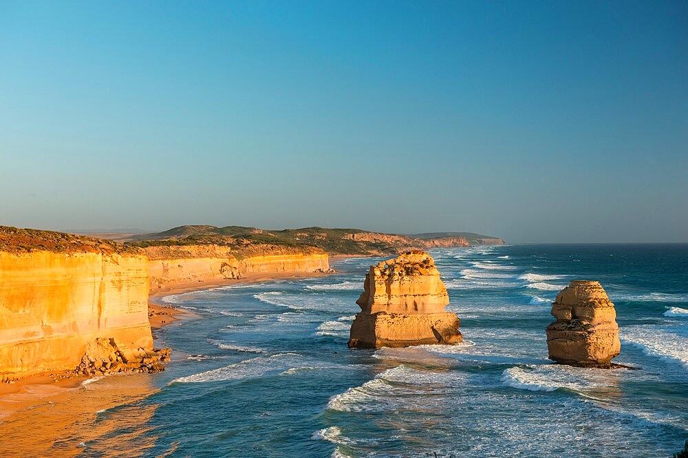 Two of the Twelve Apostles, Twelve Apostles National Park, Port Campbell, Victoria, Australia, Pacific - 737-736