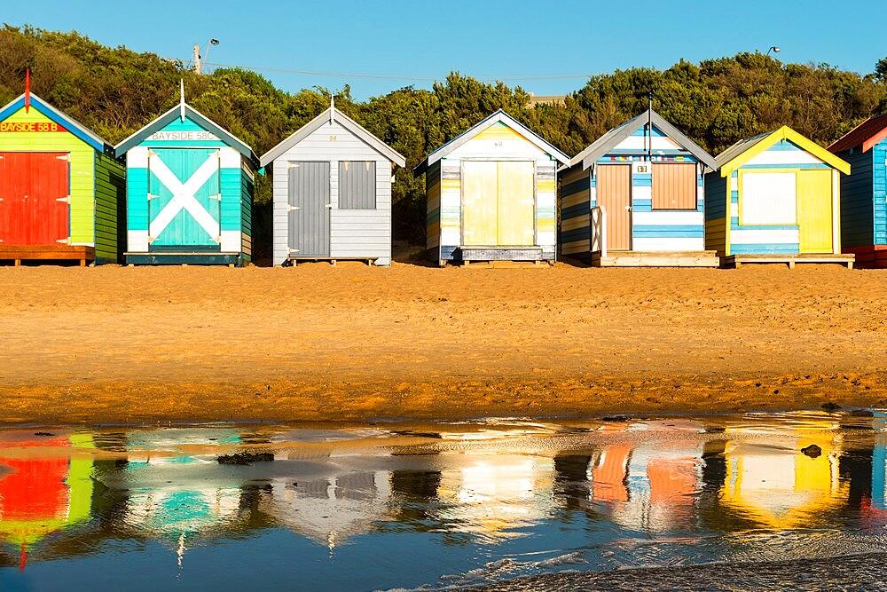 Bathing boxes (beach huts), Brighton, Port Phillip Bay, Victoria, Australia, Pacific - 737-737