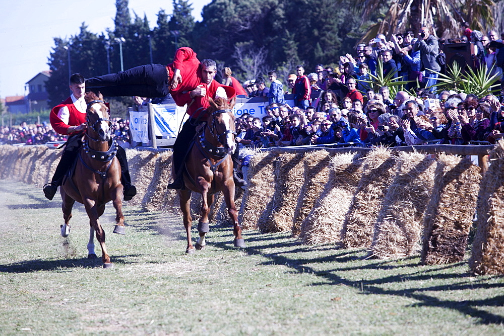 Pariglia equestrian competition for Sant Antioco, Sant'Antioco, Sardinia, Italy, Europe - 739-1377