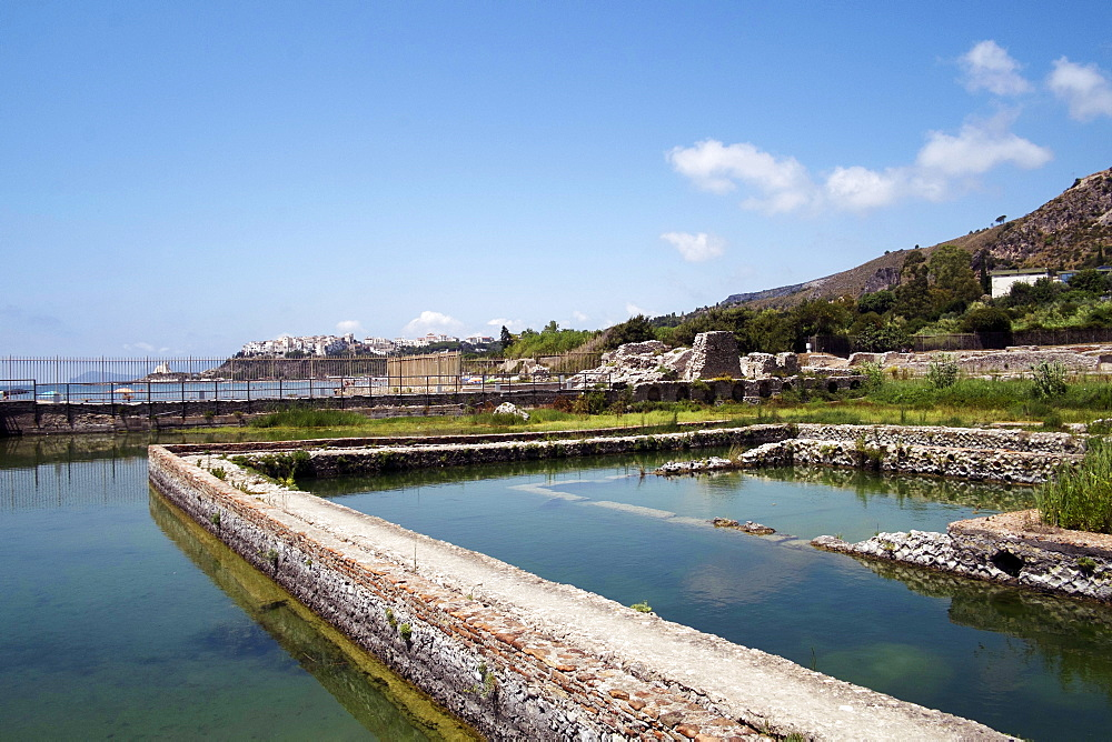 The ancient Roman Tiberius fish farm, Sperlonga, Lazio, Italy, Europe