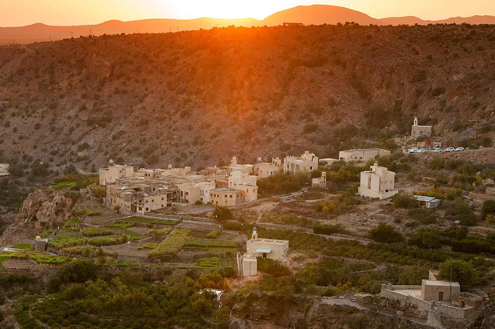 Al Sherageh village, Green Mountains, Oman, Middle East
