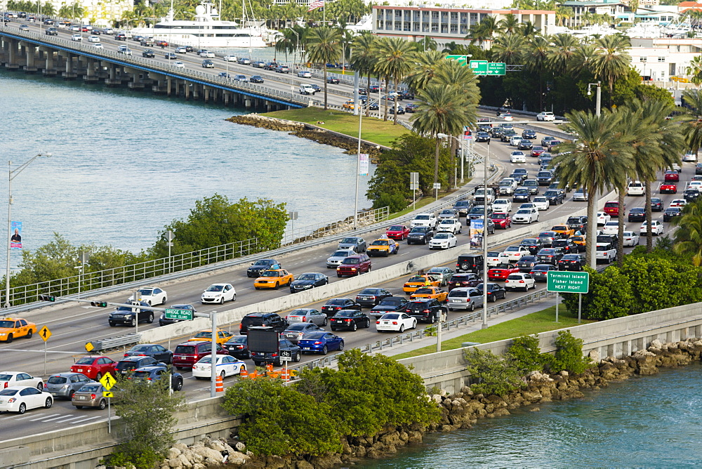 MacArthur Causeway, South Beach, Miami Beach, Florida, United States of America, North America