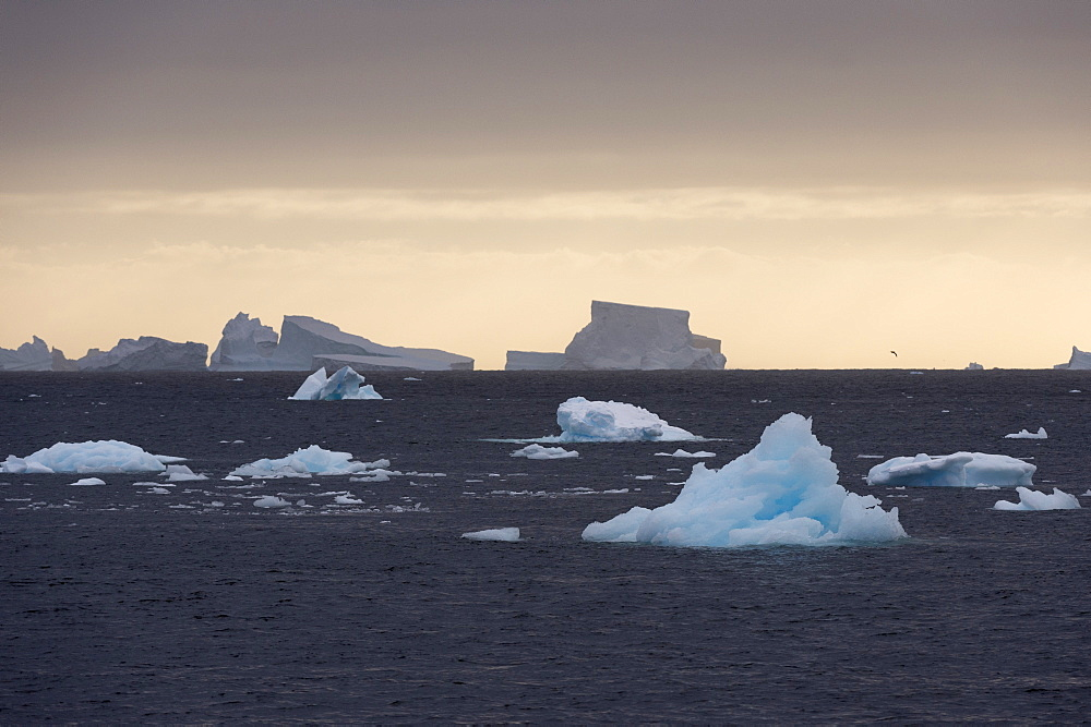 Icebergs, Lemaire Channel, Antarctica, Polar Regions