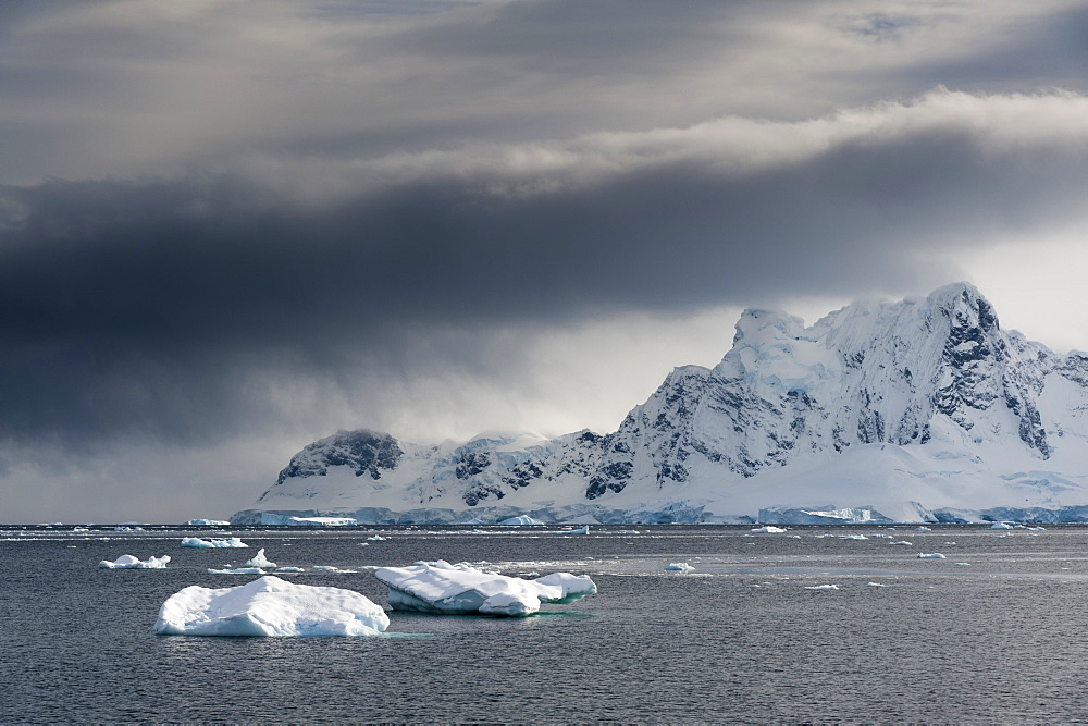 A view of the mountains surrounding Paradise Bay, Antarctica, Polar Regions