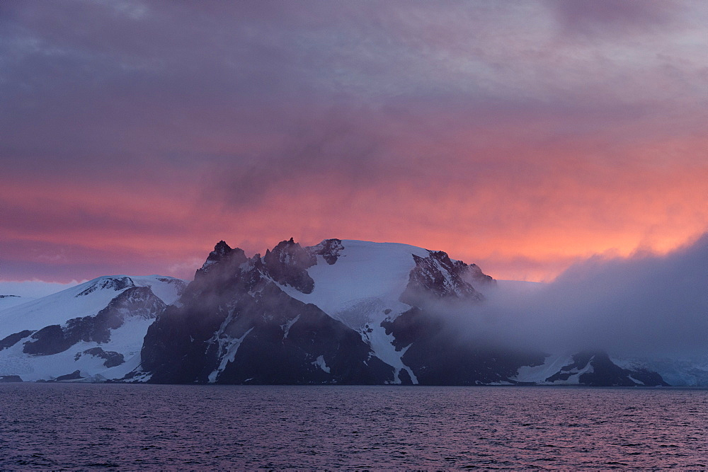 English Strait at sunset, Antarctica, Polar Regions - 741-5174