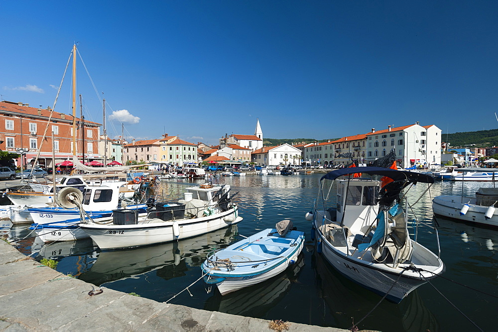 The port of Isola surrounded by the old town, Slovenia. - 741-5433