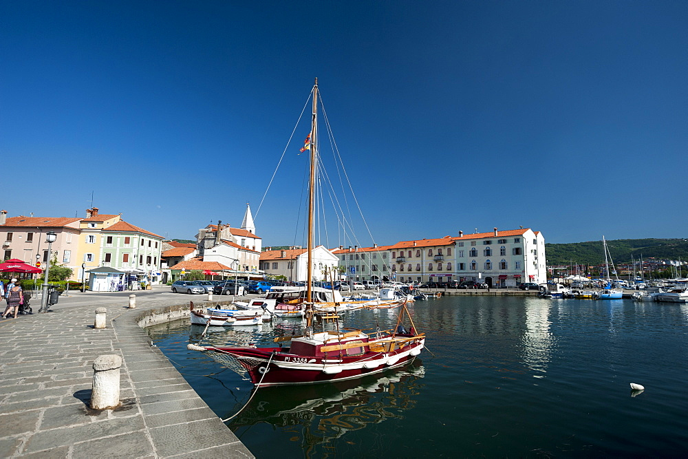 The port of Isola surrounded by the old town, Slovenia. - 741-5434