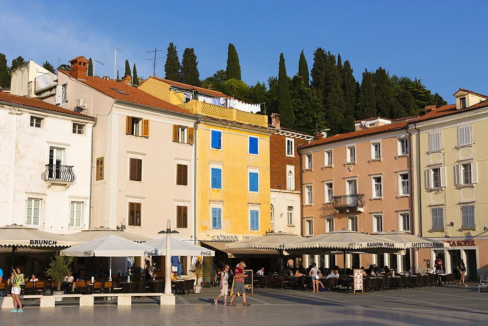 Tartini Square, Piran, Slovenia, Europe