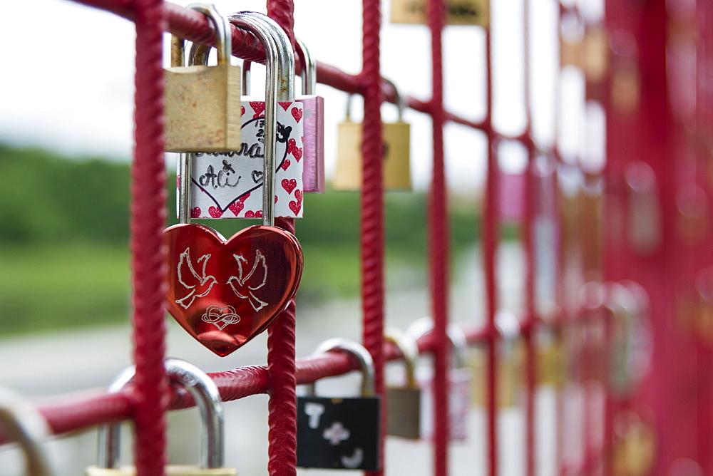 Locks of love, Maribor, Slovenia, Europe