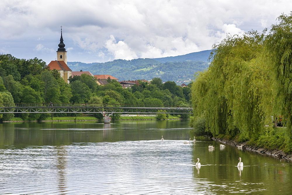 The Drava River, Maribor, Slovenia, Europe - 741-5456