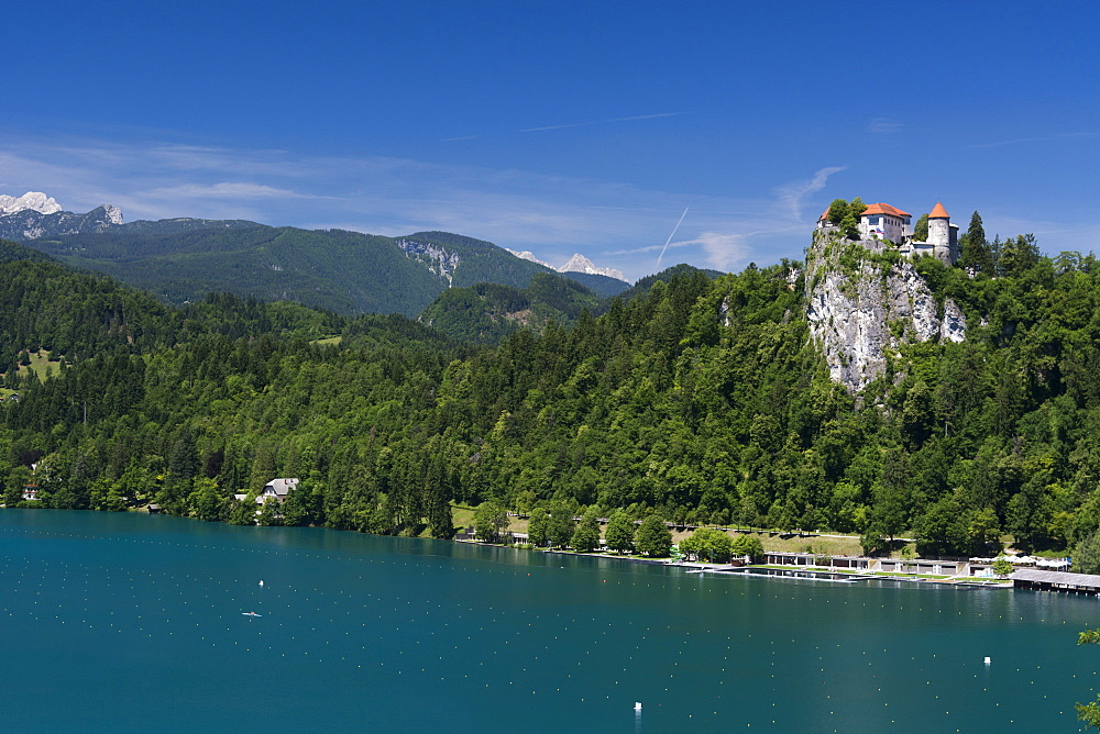A view of Bled Castle, Lake Bled, Slovenia, Europe