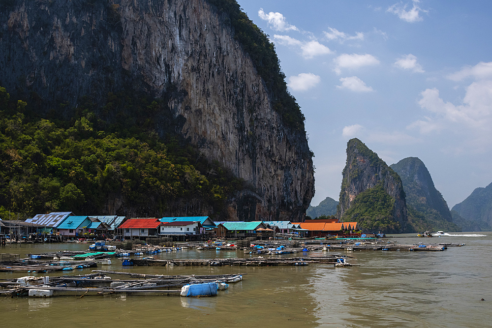 A view of Koh Panyee, one of the region's typical Muslim villages, Thailand, Southeast Asia, Asia