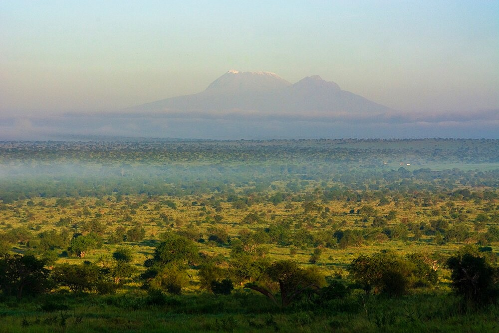 View of Mount Kilimanjaro from Lualenyi, Tsavo Conservation Area, Kenya, East Africa, Africa - 741-5961