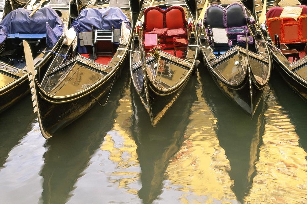 Gondolas, Venice, Veneto, Italy, Europe - 741-666