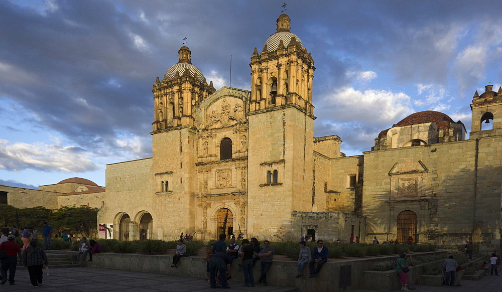 Sunset at Santa Domingo, Oaxaca, Mexico, North America