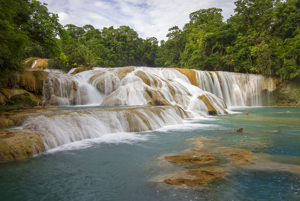 Waterfalls, Agua Azul, Chiapas, Mexico, North America
