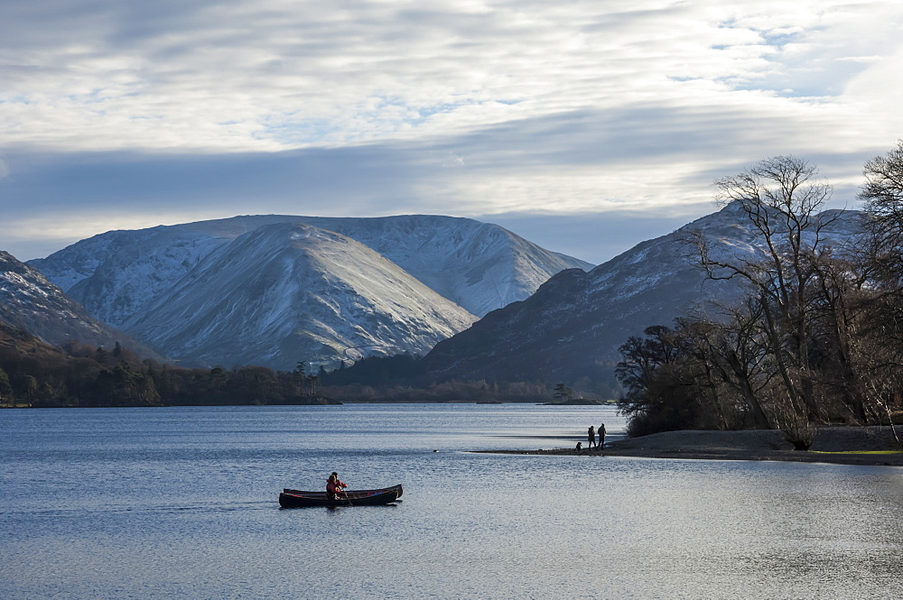 Canoeists, Ullswater, Lake District National Park, Cumbria, England, United Kingdom, Europe - 747-1861