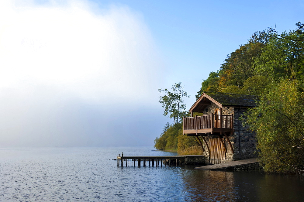 Boathouse, Ullswater, Lake District National Park, UNESCO World Heritage Site, Cumbria, England, United Kingdom, Europe - 747-1996