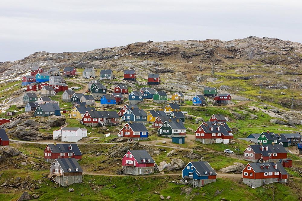 Village of Ammassalik, Greenland, Arctic, Polar Regions - 748-1338