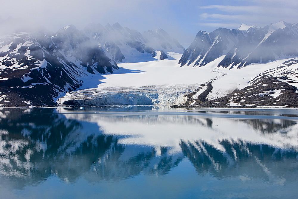 Glacier, Spitzbergen, Svalbard, Norway, Arctic, Scandinavia, Europe - 748-1339