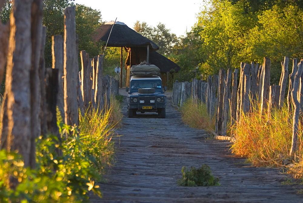 Bridge near the camp, Moremi Wildlife Reserve, Botswana, Africa