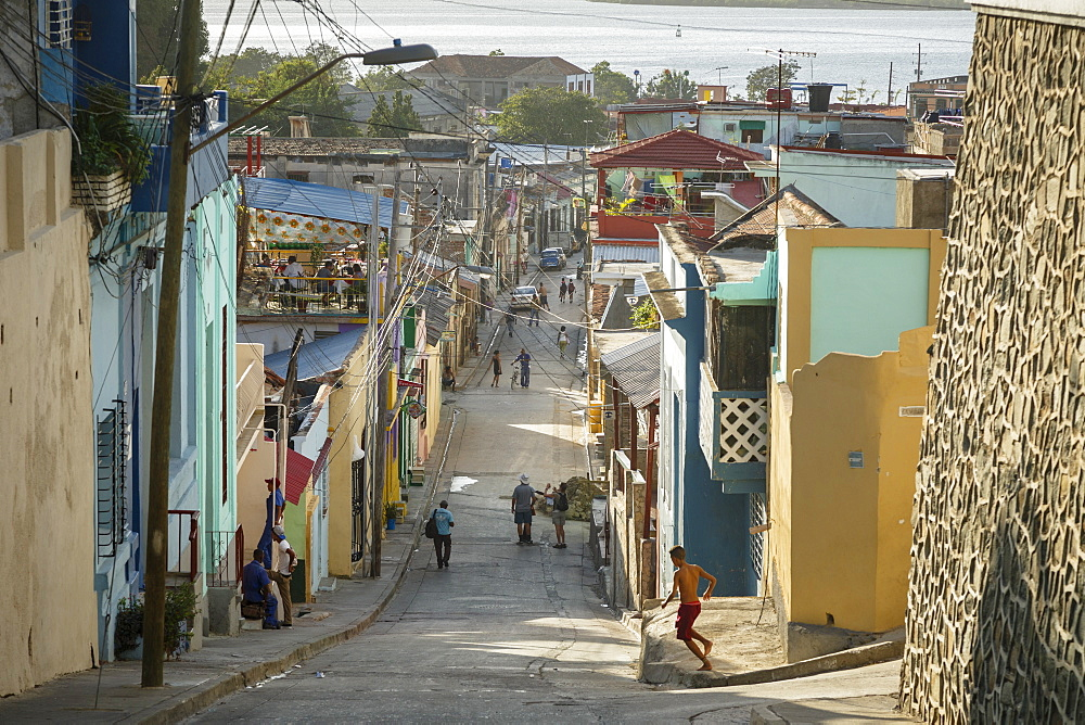 Street scene at the Tivoli neighborhood, Santiago de Cuba, Cuba, West Indies, Caribbean, Central America - 749-2308