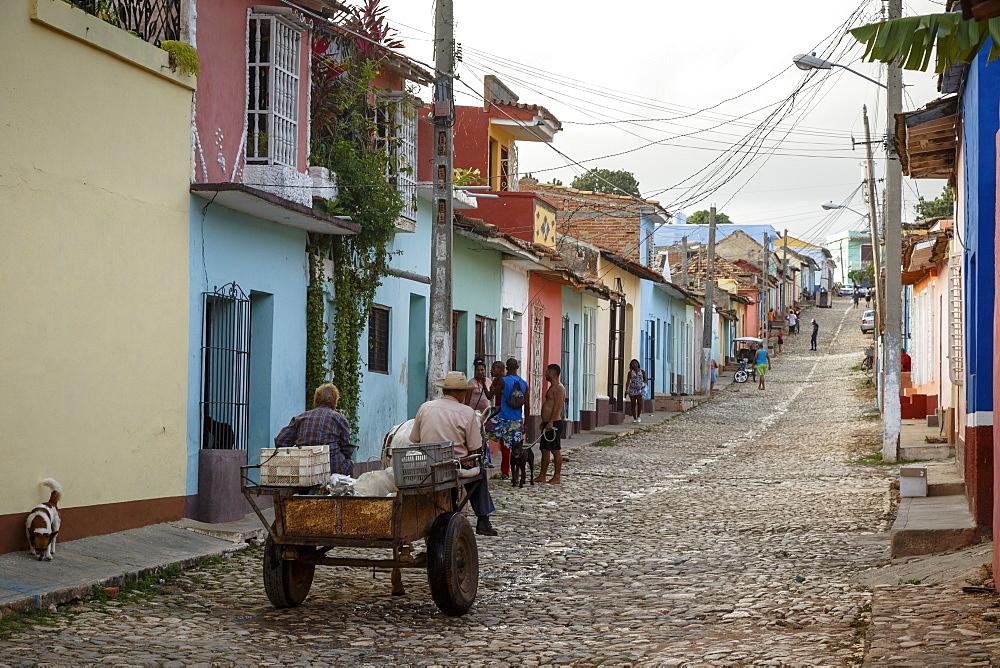 Street scene, Trinidad, UNESCO World Heritage Site, Sancti Spiritus Province, Cuba, West Indies, Caribbean, Central America - 749-2324