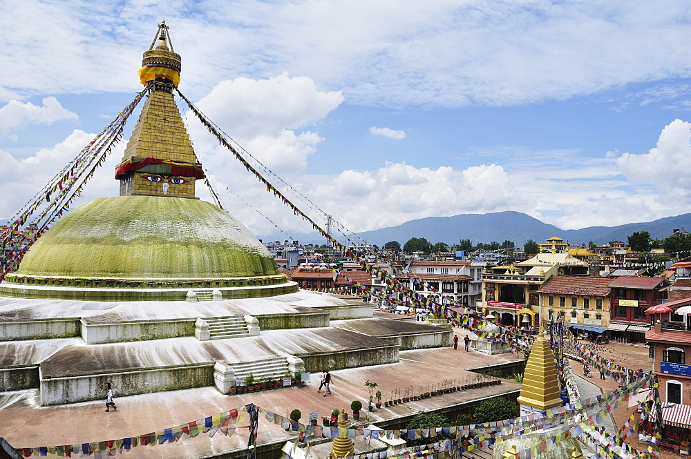 Boudhanath, UNESCO World Heritage Site, Bagmati, Central Region, Nepal, Asia
