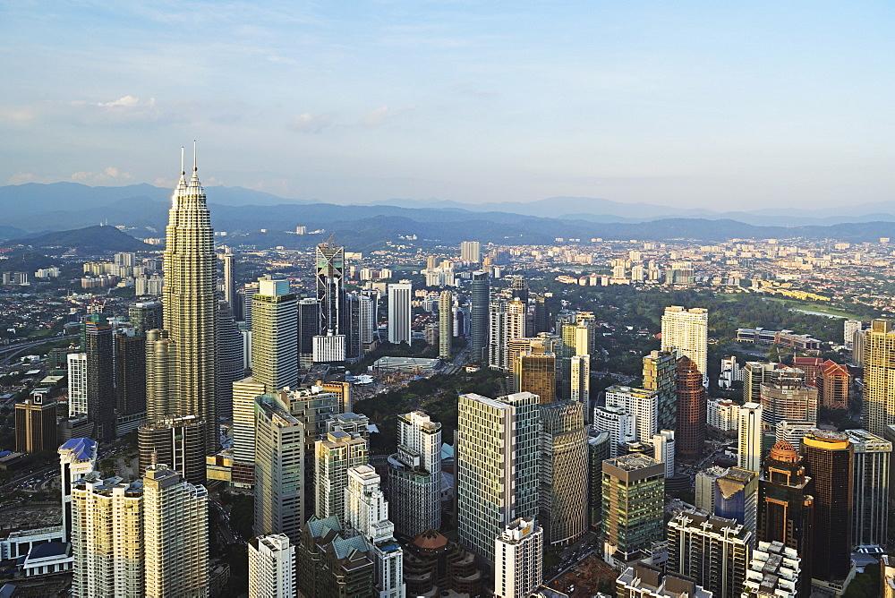 Kuala Lumpur skyline seen from KL Tower, Kuala Lumpur, Malaysia, Southeast Asia, Asia