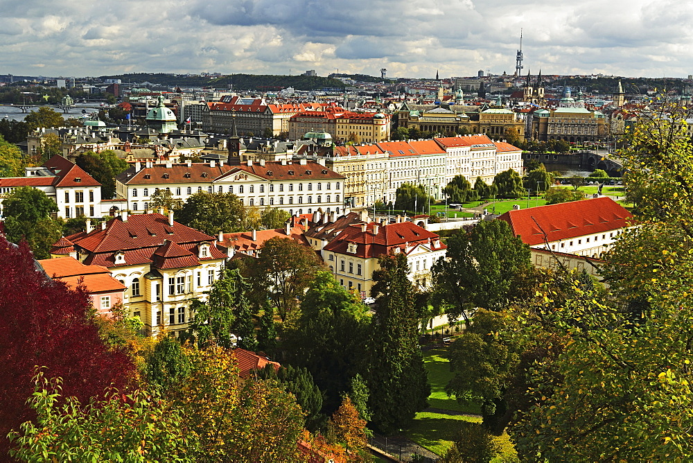 View of Prague from Prague castle, Czech Republic, Europe - 756-2770