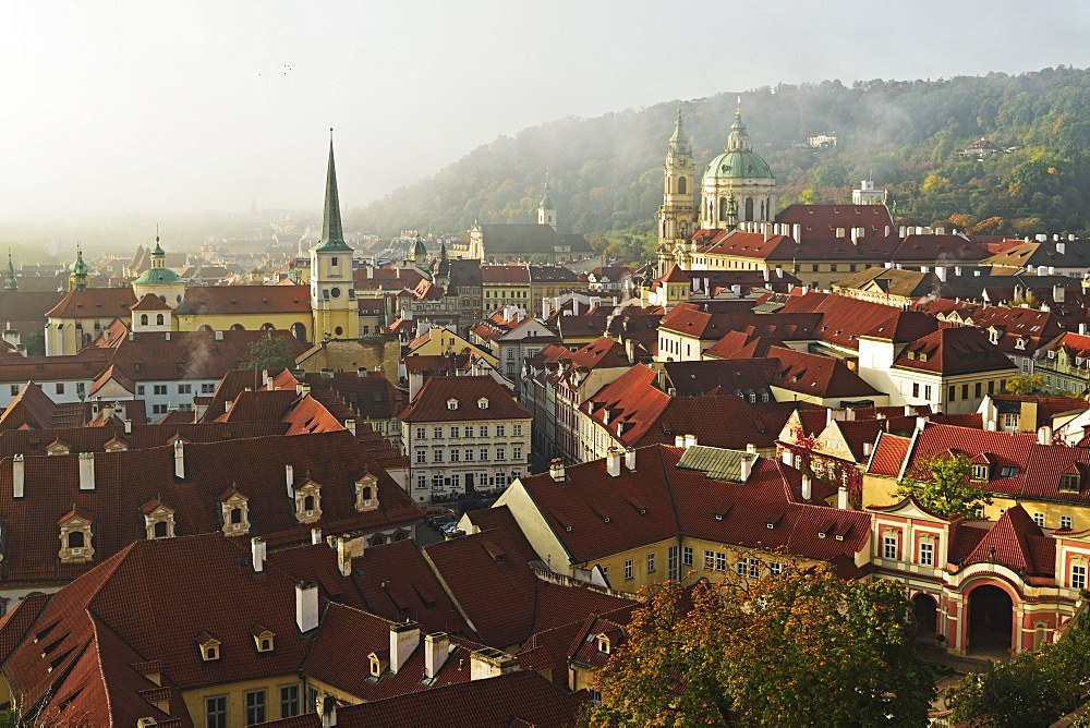 View of Prague from Prague castle, Czech Republic, Europe - 756-2773