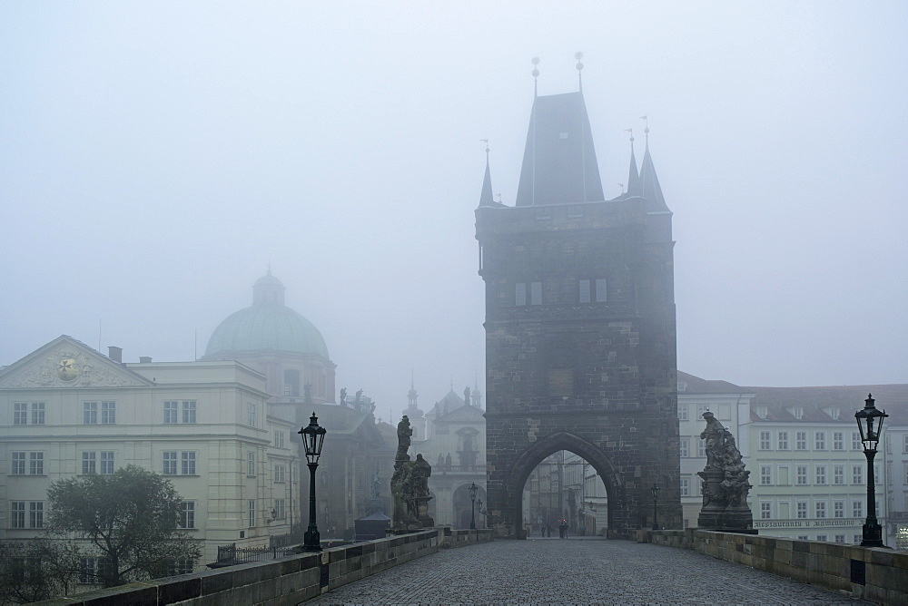 Charles Bridge, Prague, Czech Republic, Europe - 756-2774