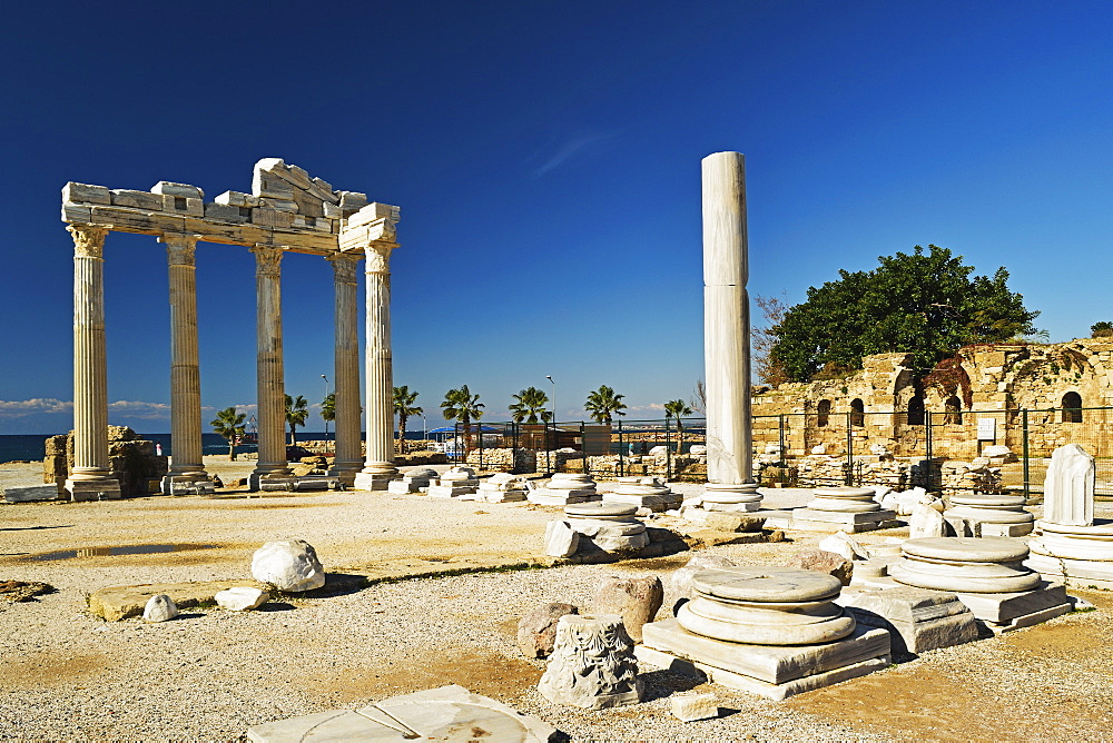 Temple of Apollo, Side, Antalya Province, Anatolia, Turkey, Asia Minor, Eurasia - 756-2786