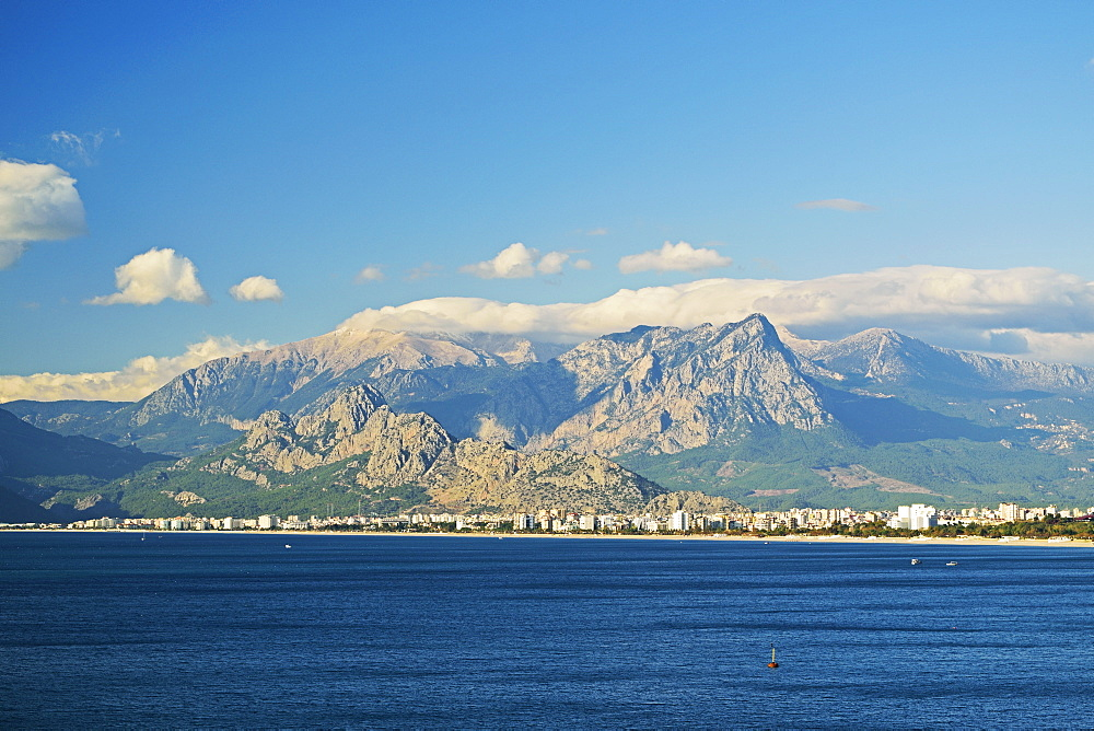 View of Taurus Mountains and Mediterranean Sea, Antalya Province, Anatolia, Turkey, Asia Minor, Eurasia - 756-2789