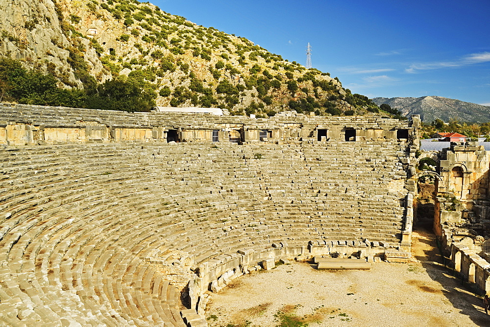 Theatre of Myra, Demre, Antalya Province, Anatolia, Turkey, Asia Minor, Eurasia - 756-2798