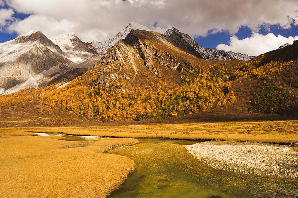 Xiaruoduojio mountain, Yading Nature Reserve, Sichuan Province, China, Asia - 756-575