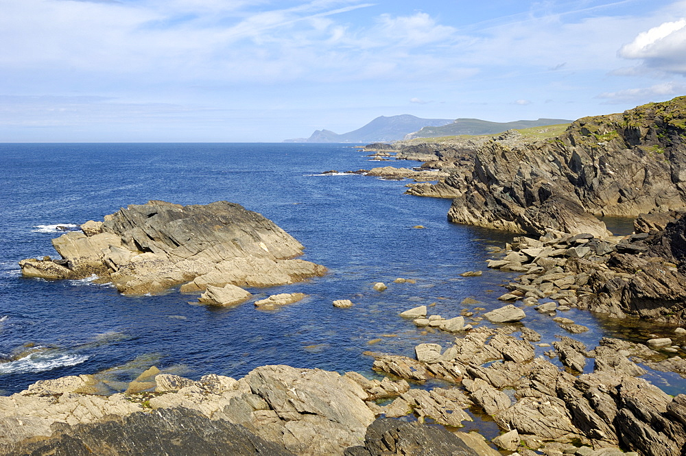View of coastline from the Atlantic Drive, Achill Island, County Mayo, Connacht, Republic of Ireland (Eire), Europe
